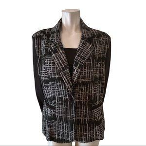 Vida Black and Grey Soft Knit Jacket Size 16
